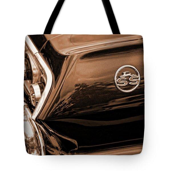 1963 Chevy Impala Ss Sepia Tote Bag by Gordon Dean II
