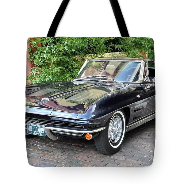 Tote Bag featuring the photograph 1963 Corvette Split Window Coupe by John Black