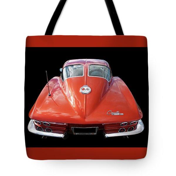 1963 Corvette Stingray Split Window Rear Tote Bag