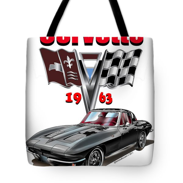 1963 Corvette With Split Rear Window Tote Bag
