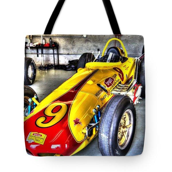 1963 Eddie Sachs Indy Car Tote Bag