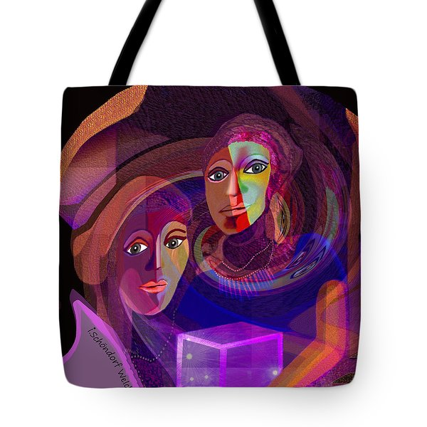 Tote Bag featuring the digital art 1963 - Pandoras Magic Box 2017 by Irmgard Schoendorf Welch