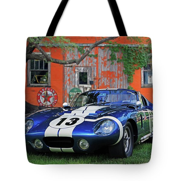 Tote Bag featuring the photograph 1964 Cobra Daytona Coupe by Christopher McKenzie