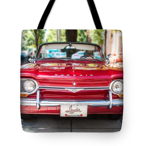 Tote Bag featuring the photograph 1964 Corvair Spyder by Lynne Jenkins