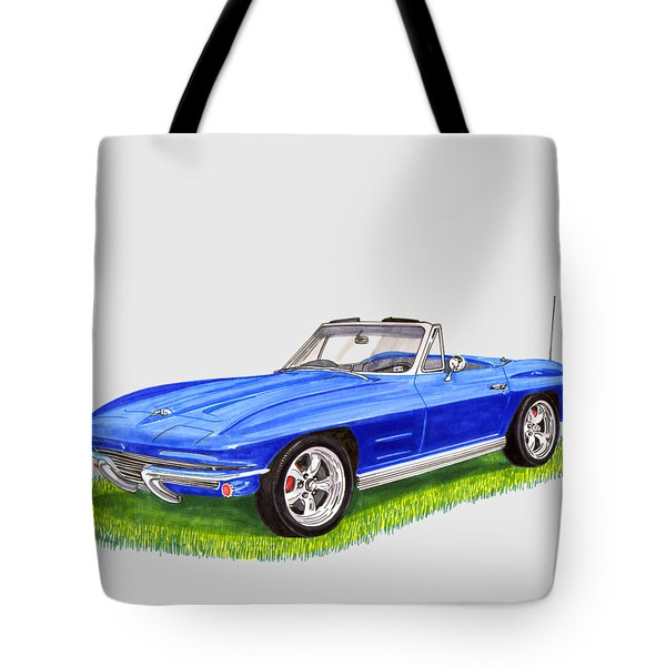 Tote Bag featuring the painting 1964 Corvette Stingray by Jack Pumphrey