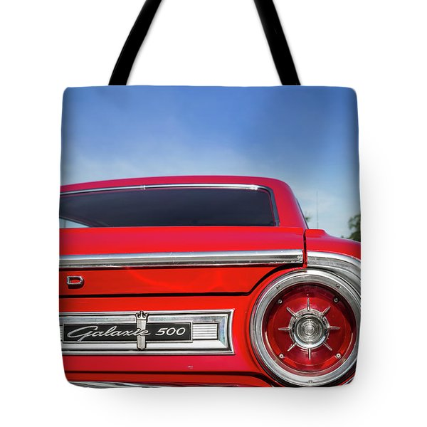 1964 Ford Galaxie 500 Taillight And Emblem Tote Bag