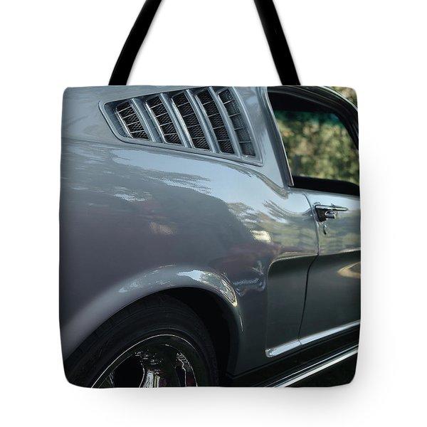 1965 Ford Mustang Tote Bag by Peter Piatt