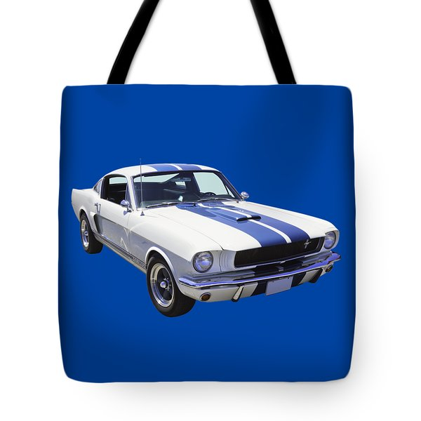 1965 Gt350 Mustang Muscle Car Tote Bag