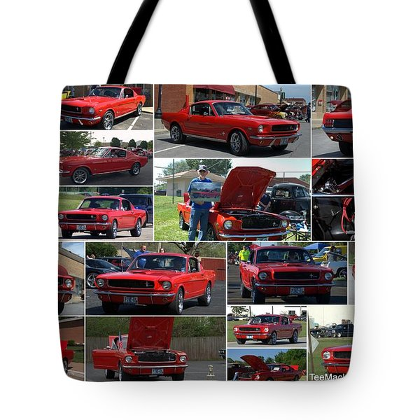 1965 Mustang Fastback Collage Tote Bag