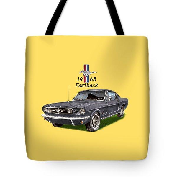 1965 Mustang Fastback Tote Bag by Jack Pumphrey