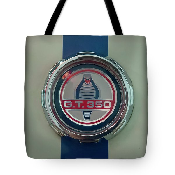 Tote Bag featuring the photograph 1965 Shelby Gt 350 Filler Cap by Chris Flees