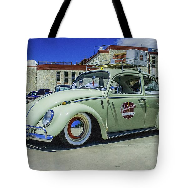 Tote Bag featuring the photograph 1965 Volkswagen Bug by Tony Baca