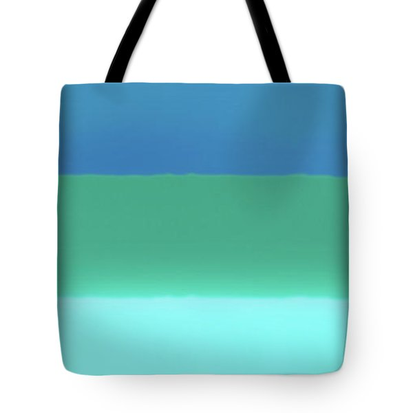 1966 Bands In Blues And Greens Tote Bag
