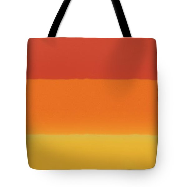 1966 Bands In Red, Orange And Yellow Tote Bag