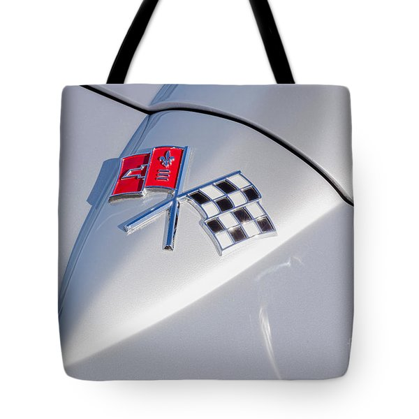 Tote Bag featuring the photograph 1966 Corvette Hood Ornament  by Aloha Art