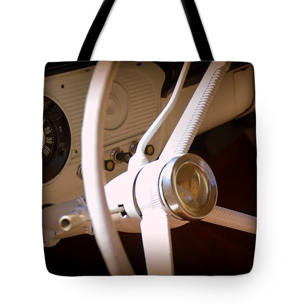Tote Bag featuring the photograph 1966 Ford F100 Interior by Lisa Wooten