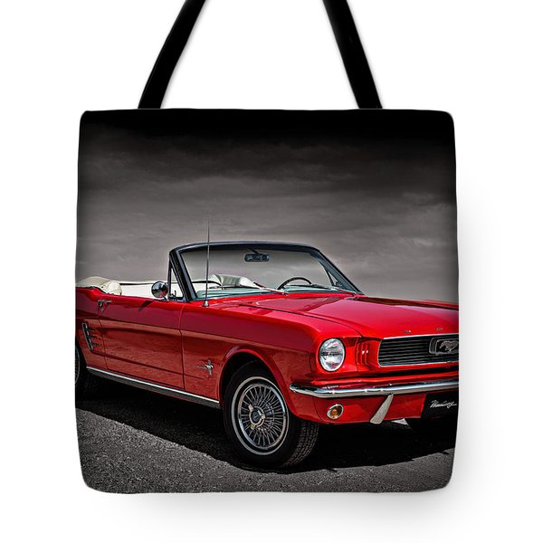 1966 Ford Mustang Convertible Tote Bag