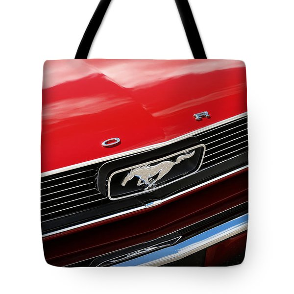 Tote Bag featuring the photograph 1966 Ford Mustang by Gordon Dean II