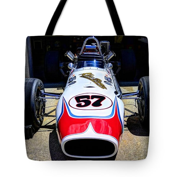 1966 Gearhardt Rear Engine V8 Tote Bag by Josh Williams
