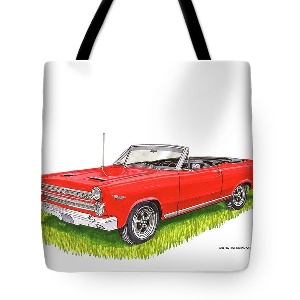 1966 Mercury Cyclone Convertible G T Tote Bag by Jack Pumphrey