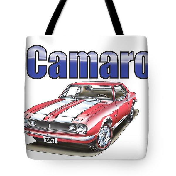 1967 Camaro Tote Bag by Thomas J Herring