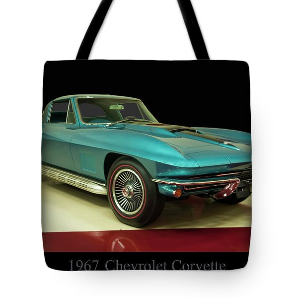 Tote Bag featuring the digital art 1967 Chevrolet Corvette 2 by Chris Flees
