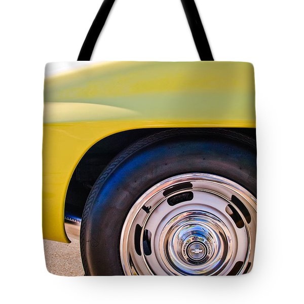 1967 Chevrolet Corvette Sport Coupe Rear Wheel Tote Bag by Jill Reger