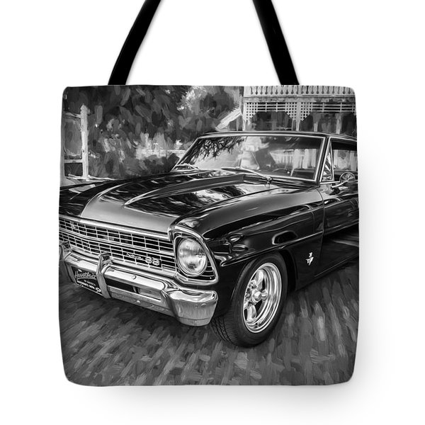1967 Chevrolet Nova Super Sport Painted Bw 1 Tote Bag
