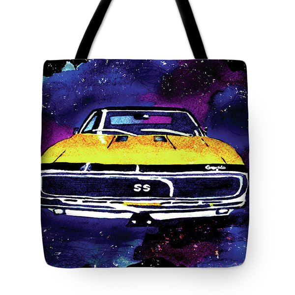 1967 Chevy Camaro Ss Tote Bag by Paula Ayers