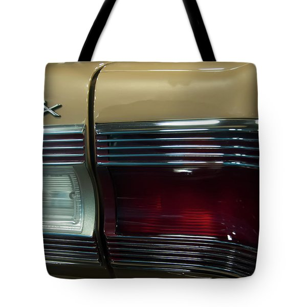 Tote Bag featuring the photograph 1967 Plymouth Belvedere Gtx Rear Tail Light by Chris Flees