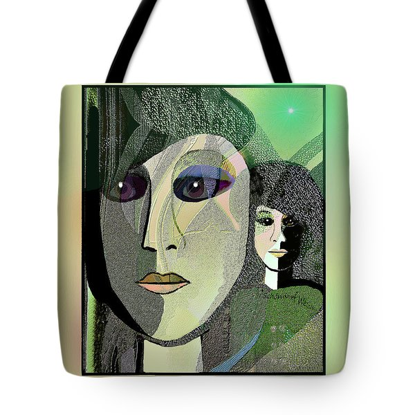 Tote Bag featuring the digital art 1968 - A Dolls Head by Irmgard Schoendorf Welch
