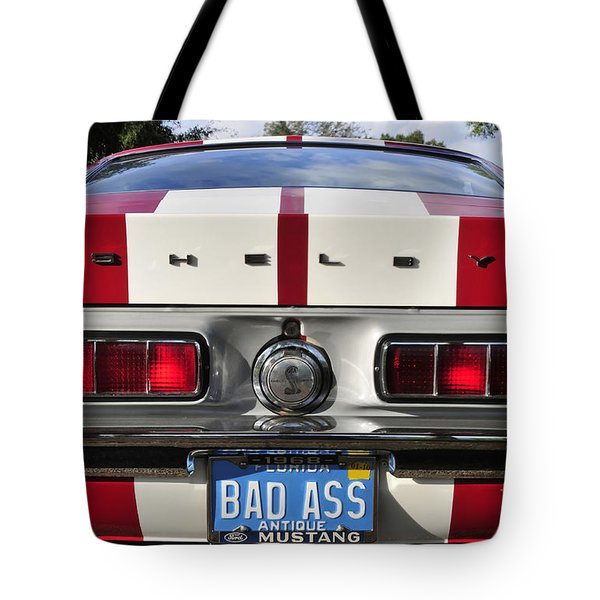 1968 Bad Ass Shelby Mustang Tote Bag by David Lee Thompson