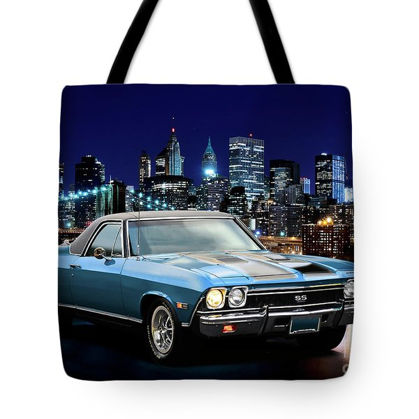 1968 Chevrolet El Camino Ss396 'the Morning After I' Tote Bag