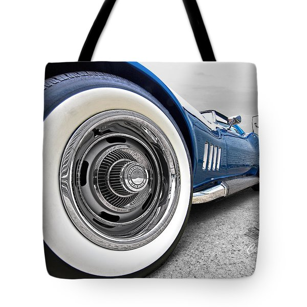 1968 Corvette White Wall Tires Tote Bag