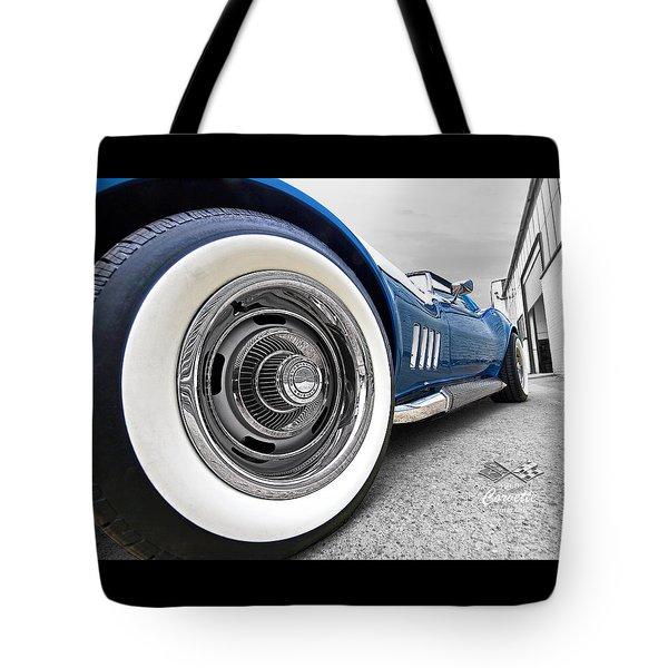 1968 Corvette White Wall Tires Tote Bag