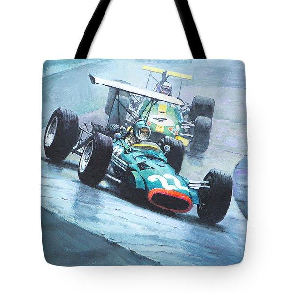 1968 German Gp Nurburgring  Tote Bag by Yuriy Shevchuk
