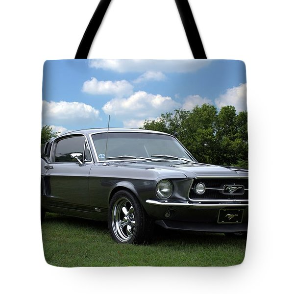 1967 Mustang Fast Back Tote Bag by Tim McCullough