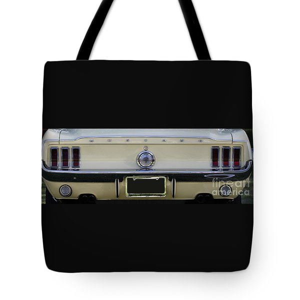 1968 Mustang Gt Fastback Tote Bag
