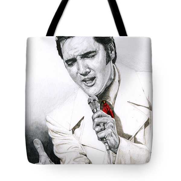 1968 White If I Can Dream Suit Tote Bag