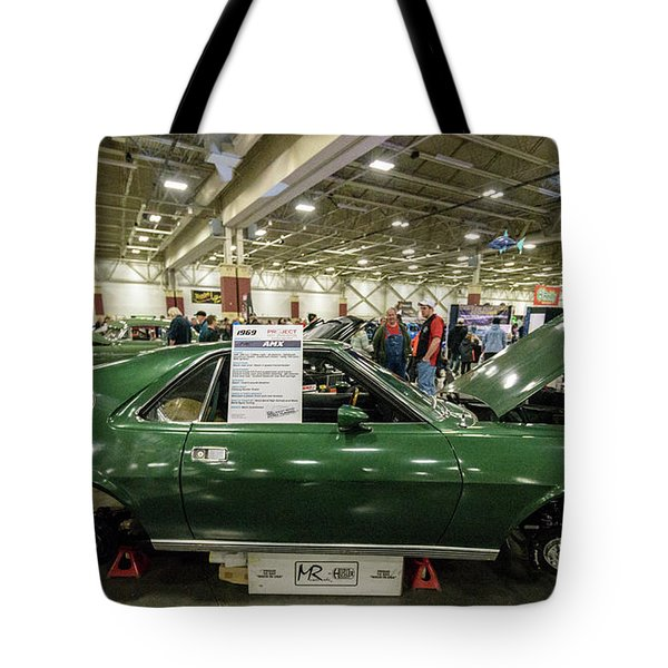 Tote Bag featuring the photograph 1969 Amc Amx by Randy Scherkenbach