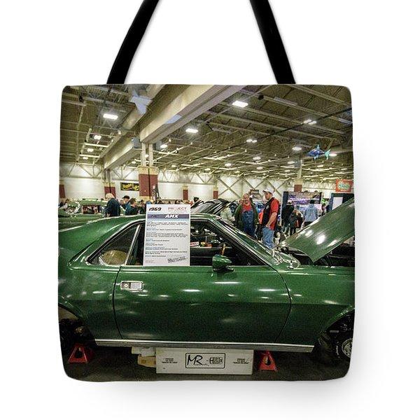 1969 Amc Amx Tote Bag by Randy Scherkenbach