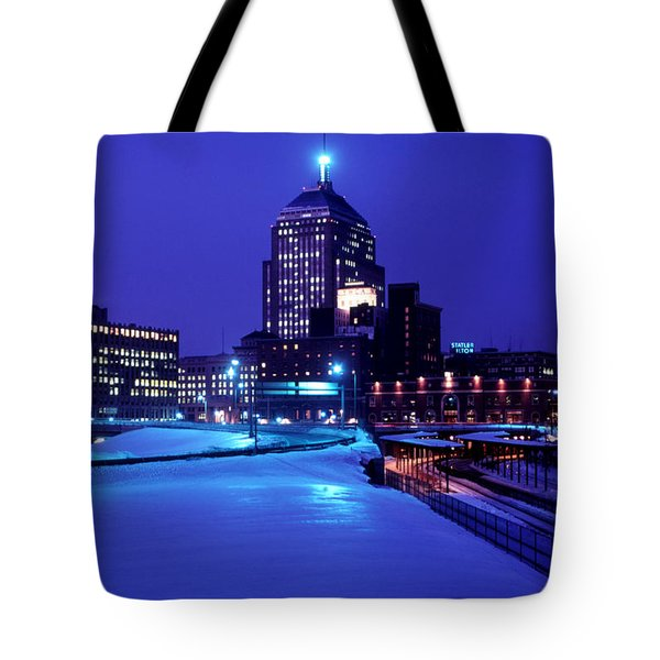 Tote Bag featuring the photograph  1969 Boston Twilight by Historic Image
