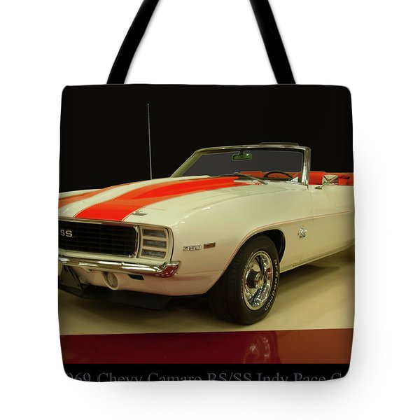 1969 Chevy Camaro Rs/ss Indy Pace Car Tote Bag