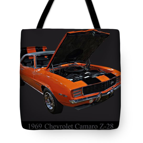 1969 Chevy Camaro Z28 Tote Bag
