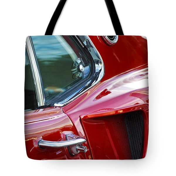 Tote Bag featuring the photograph 1969 Ford Mustang Mach 1 Side Scoop by Jill Reger