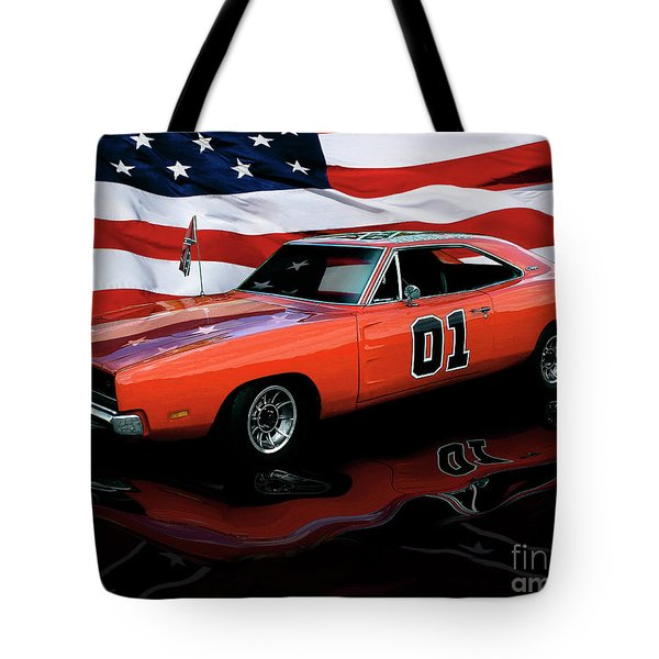 Tote Bag featuring the photograph 1969 General Lee by Peter Piatt