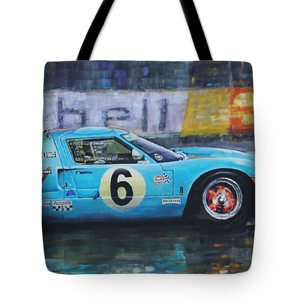1969 Le Mans 24 Ford Gt40 Jacky Ickx Jackie Oliver Winner Tote Bag by Yuriy Shevchuk
