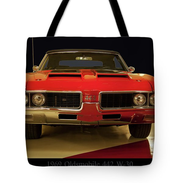 Tote Bag featuring the photograph 1969 Oldsmobile 442 W-30 by Chris Flees