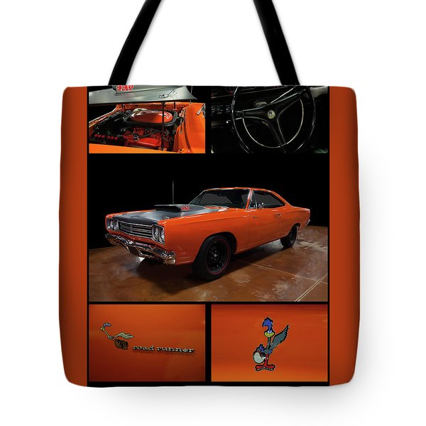Tote Bag featuring the photograph 1969 Plymouth Road Runner A12 by Chris Flees