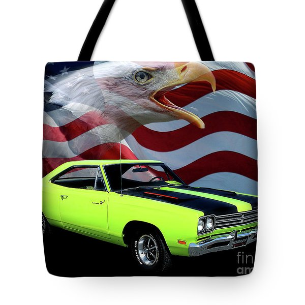 1969 Plymouth Road Runner Tribute Tote Bag